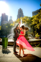 Christie & Xavier's Engagement Session at Bryant Park & Grand Central Station NYC